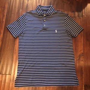 Men's Ralph Lauren Polo (Blue/White Stripes)Size S